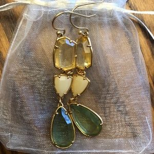 Stella and Dot Pippa stone earrings